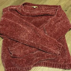 Off the shoulder Gianni Bini Chenille Warm sweater